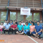 Group photo of Yoga retreat in August 2014