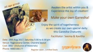 Make you own Ganesha workshop at Yogavijnana