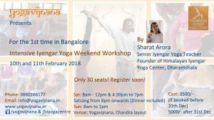 Iyengar yoga workshop in Bangalore