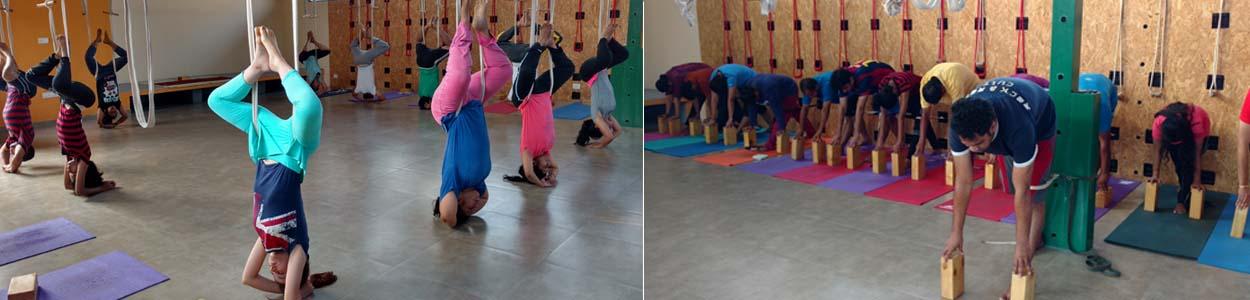 Yoga approach at Yogavijnana is inspired by Iyengar yoga