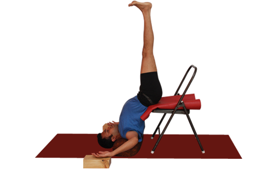 Buy Yoga chair and bricks online. Demo by Vinay Siddaiah.
