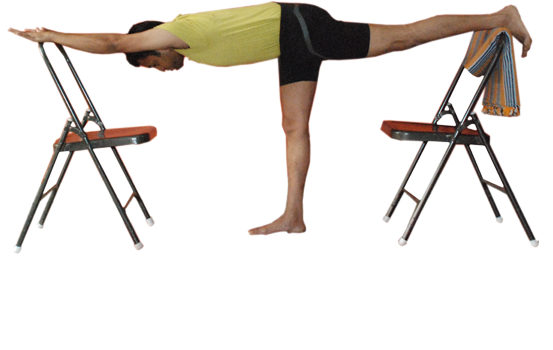 Buy Yoga chairs in Bangalore. Demo by Vinay Siddaiah