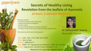 Ayurveda Workshop in Bangalore